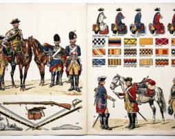 Planche sur l'armée Française N°27 - Cavalerie Ordonnance 1750 - Lucien Rousselot