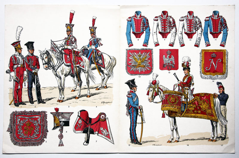 Planche sur l'armée Française N°65 - Chevau-légers Polonais de la Garde 1807/1814 - Lucien Rousselot.