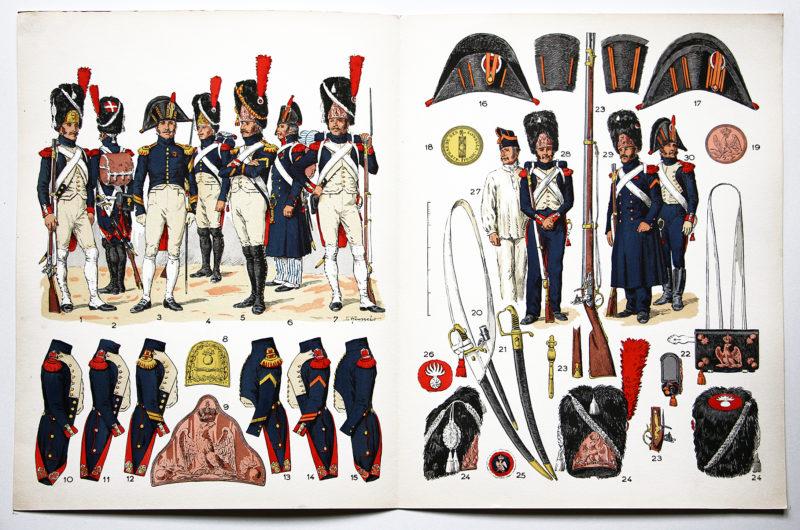 Planche sur l'armée Française N°40 - Grenadiers a pied de la Garde 1800-1815 - Lucien Rousselot