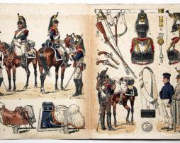 Planche sur l'armée Française N°37 - Cuirassier 1810-1815 - Lucien Rousselot