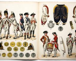 Planche sur l'armée Française N°35 - Infanterie Française 1786 - Lucien Rousselot