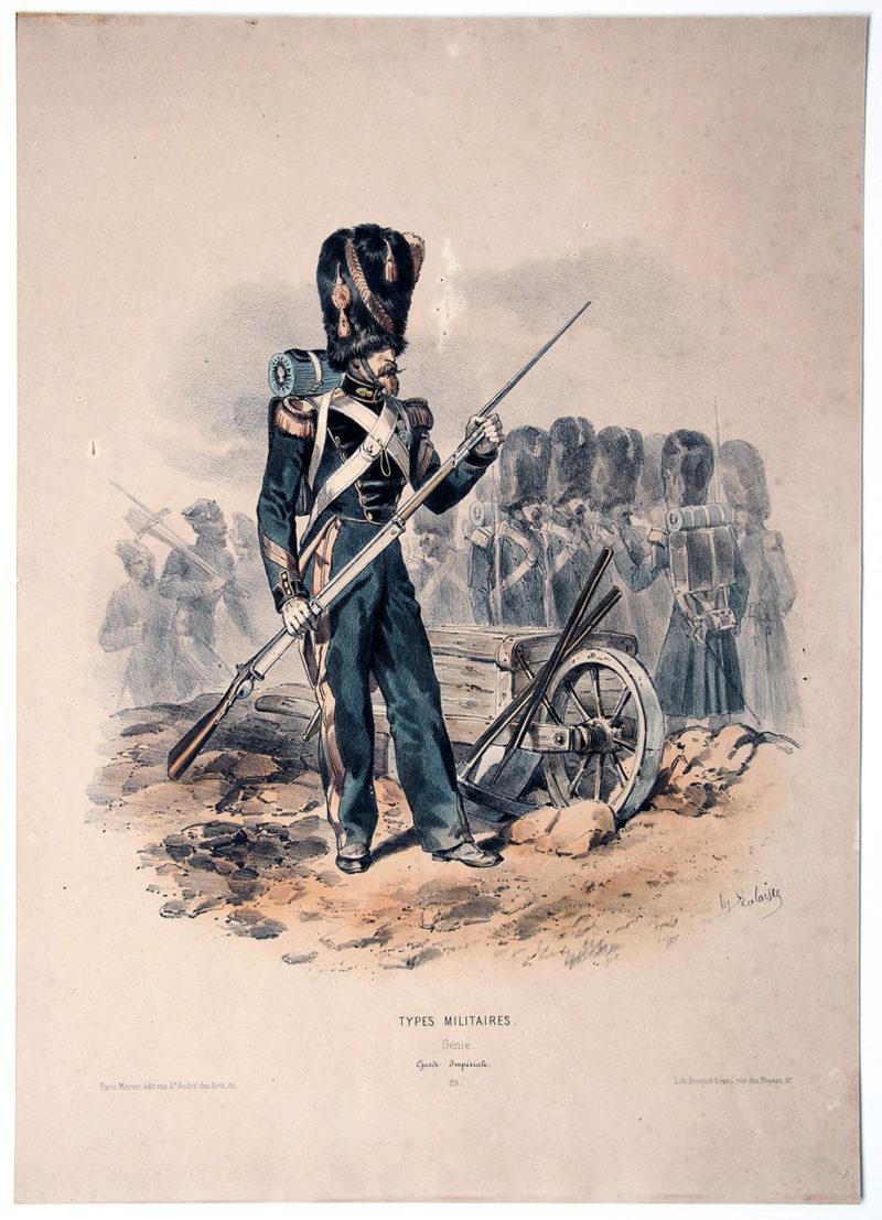 Uniforme Second Empire Genie de la Garde - François Hippolyte Lalaisse