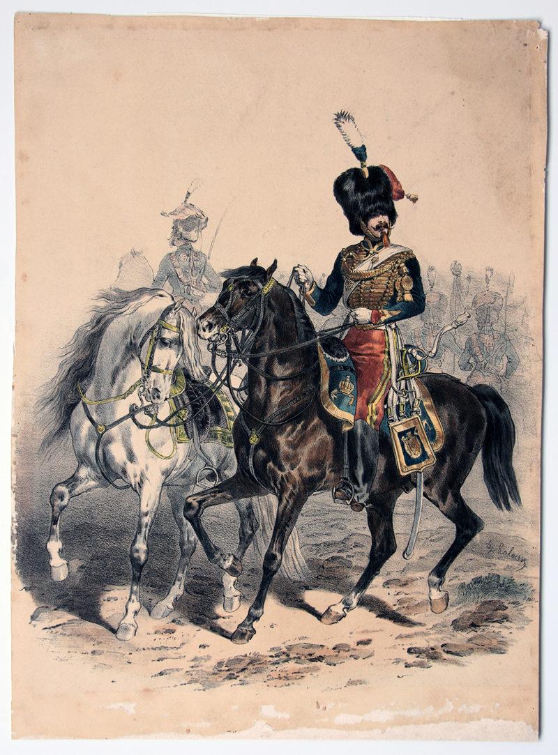 Uniforme Second Empire Guides de la Garde - François Hippolyte Lalaisse