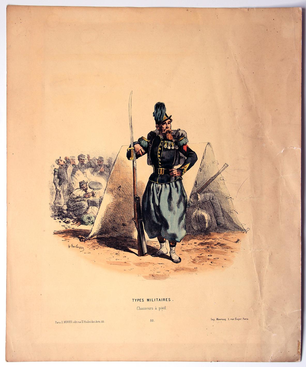 Uniforme Second Chasseurs à Pied - François Hippolyte Lalaisse