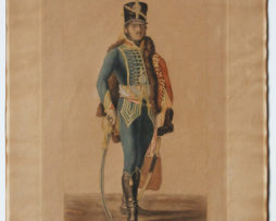 Gravure XIX - Deux Anciennes Grandes Gravures Uniforme 1er Empire - Artillerie - Hussard