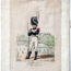 Gravure XIX - Canu - Troupes françaises - Garde Royale - Infanterie Chasseur 1816