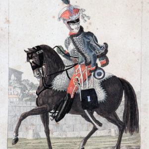 Gravure XIX - Martinet - Troupes françaises - Garde d'Honneur 1 régiment