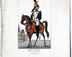 Gravure XIX - Turgis - Troupes françaises - Corps Municipal de la Ville de Paris
