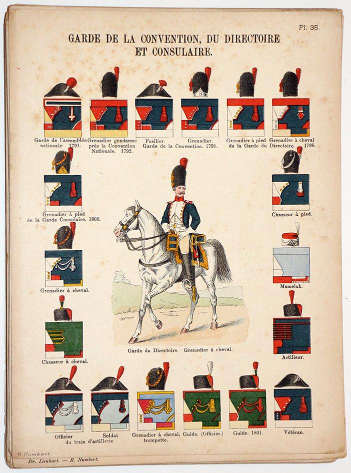 Lienhardt et Humbert - Uniformes de l'armée Française - TomeIII - Pl35 - Garde Des Consuls Directoire