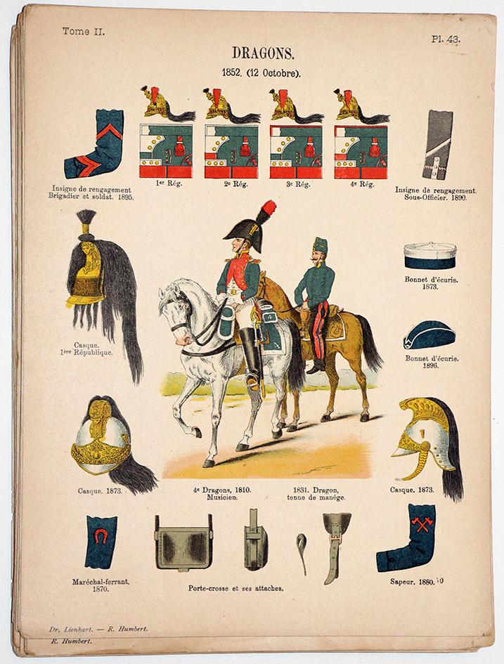 Lienhardt et Humbert - Uniformes de l'armée Française - TomeII - Pl34 - Dragons 1852