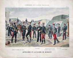 Grande Planche René Louis - Armée Française - Uniforme - 1er Guerre Mondiale