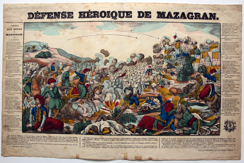 Imagerie Epinal - Défense héroïque du Mazagran