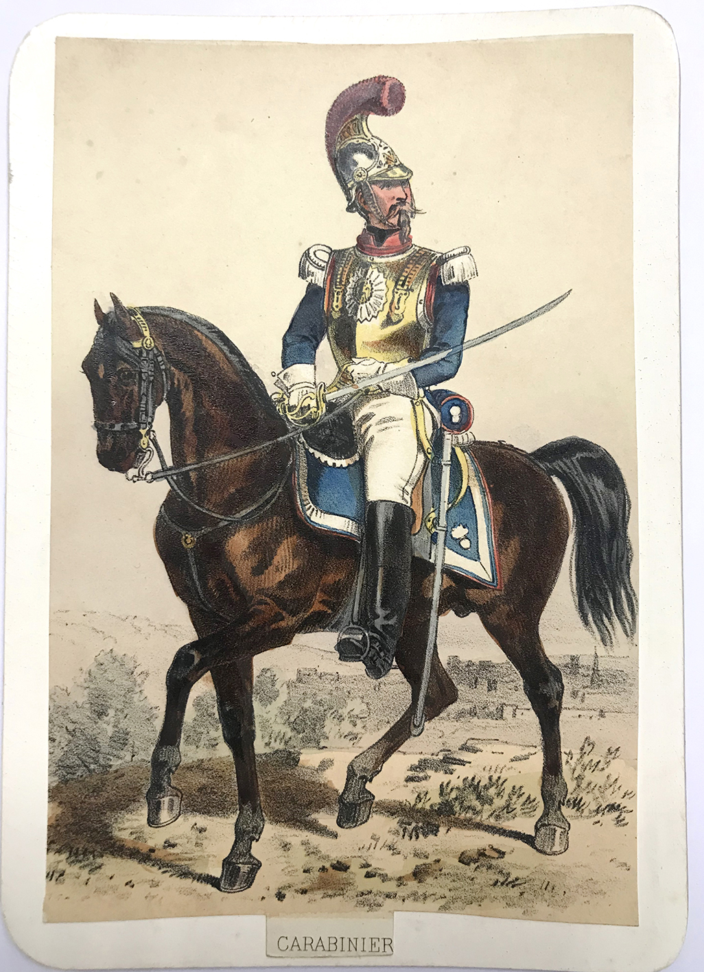 Uniforme de l'armée Second Empire Carte illustrée Couleur rehaussée