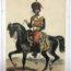 Uniforme de l'armée Second Empire Carte illustrée Couleur rehaussée