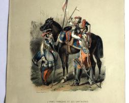 Uniforme Second Empire Lancier de la Garde - soyeux d'après François Hippolyte Lalaisse - Cantinière