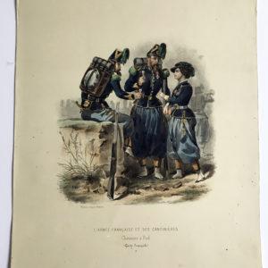 Uniforme Second Empire Chasseurs à Pied de la Garde - Fortuné d'après François Hippolyte Lalaisse - Cantinière - Sorrieux