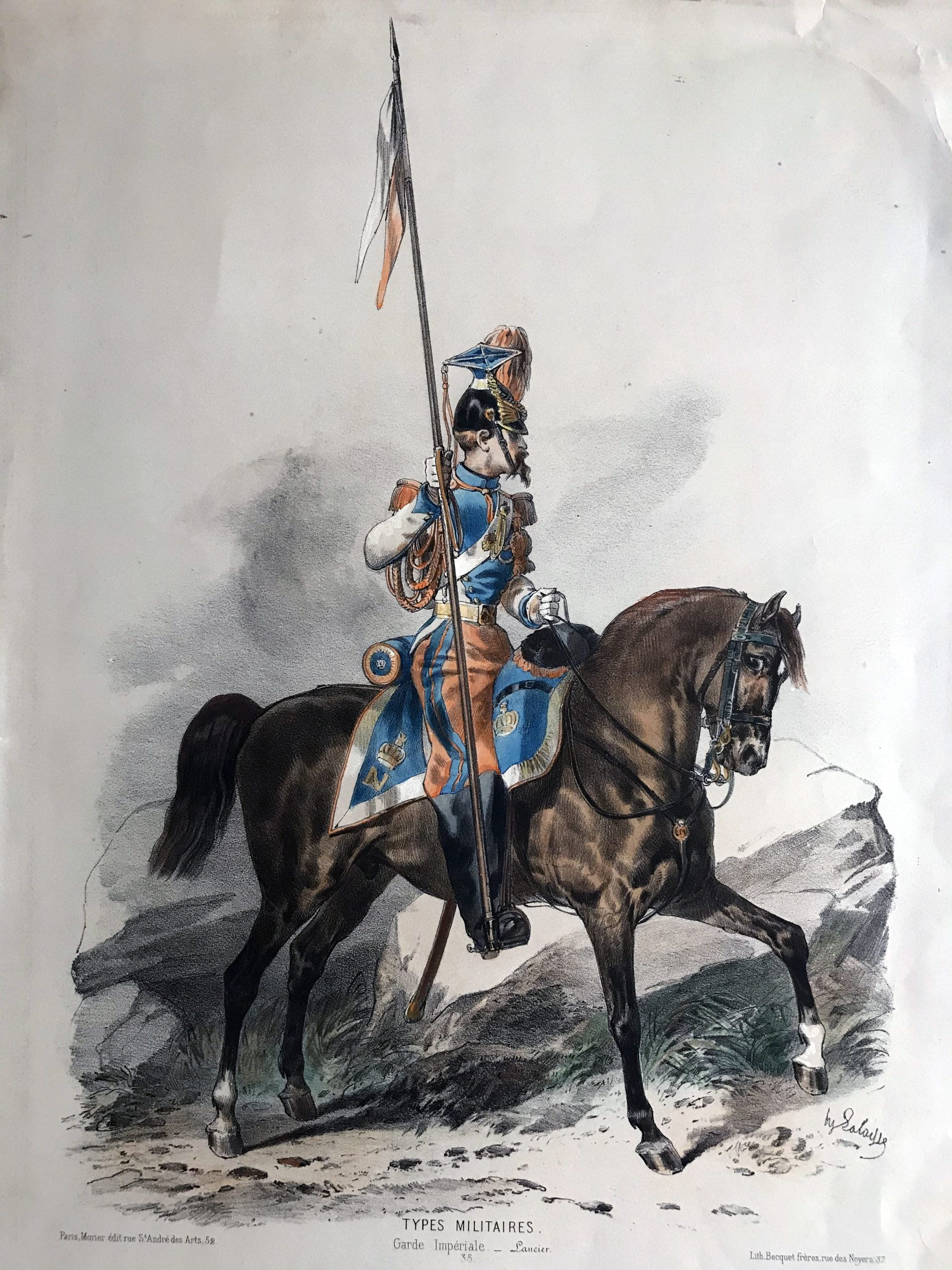 Uniforme Second Empire Lancier de la Garde - François Hippolyte Lalaisse