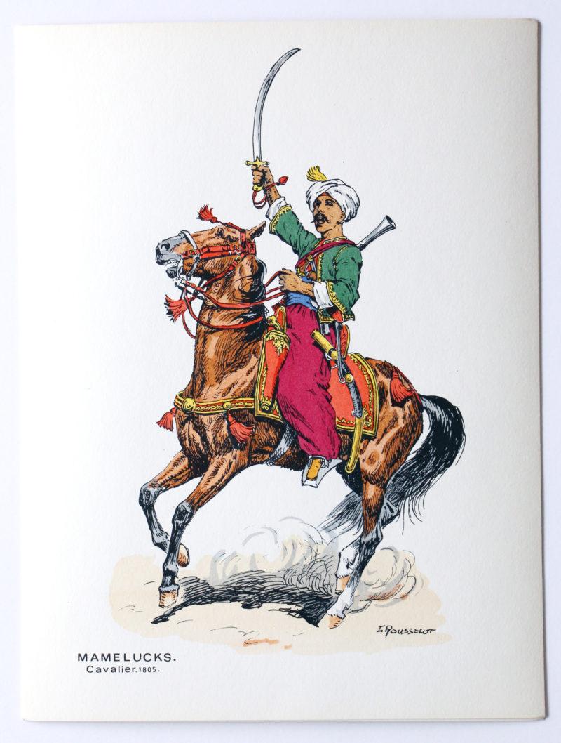 Soldats d'autrefois - Mamelucks 1801/1814 - Lucien Rousselot - 1er Empire - Napoléon - 6 planches au pochoir