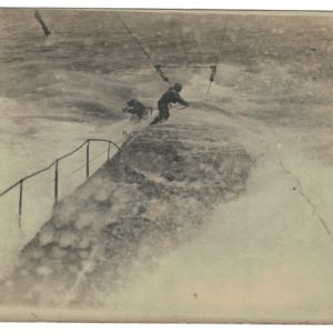 2 Photos Snapshot - 1914/1918 - Marin Uboot - Action Mer - Sous marin