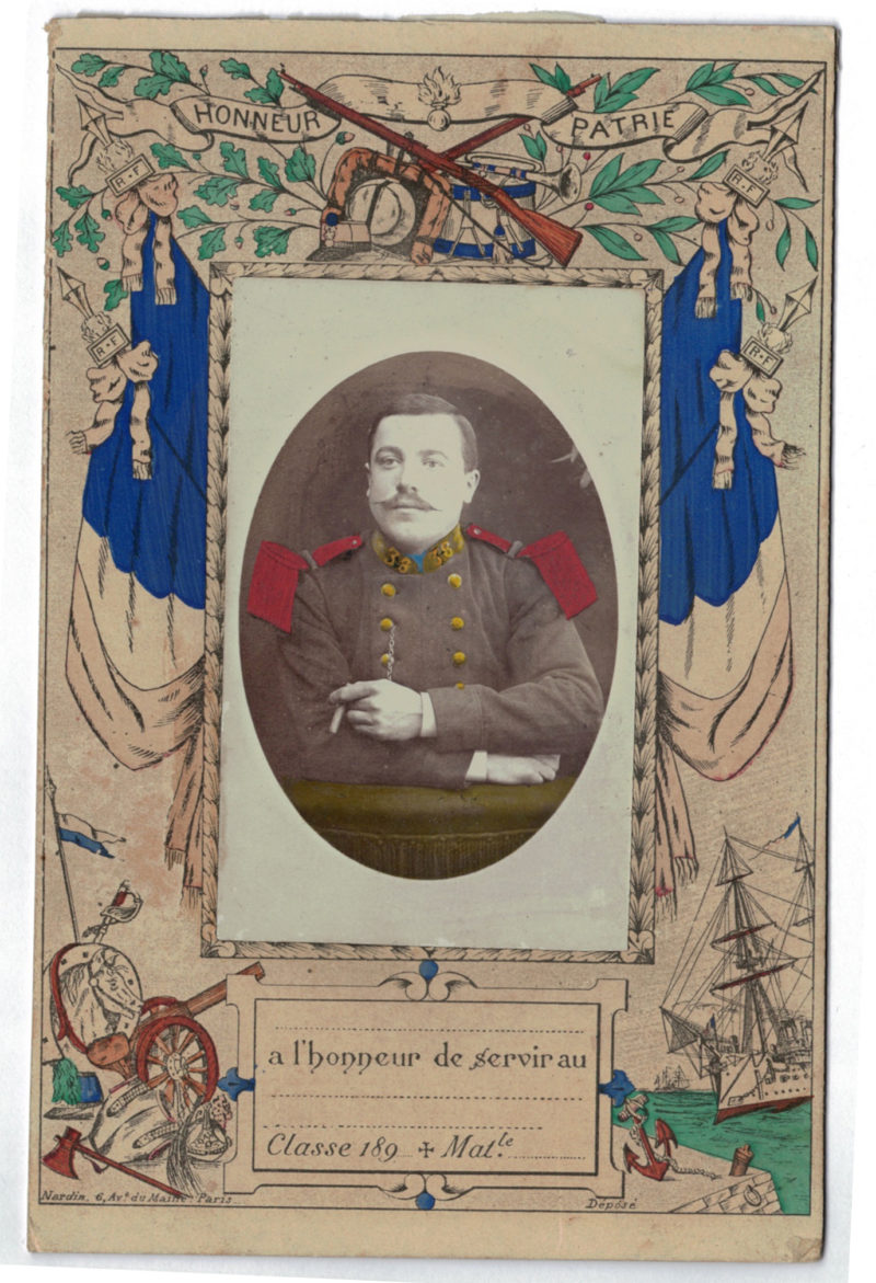 Carte CDV photo - Grand format - Soldat Infanterie 3 République - Saint Etienne 38eme de Ligne