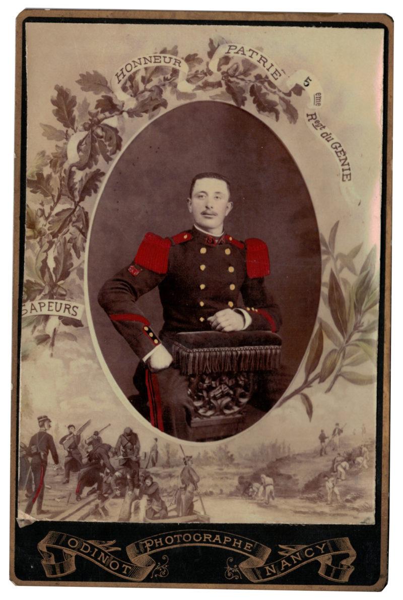 Carte CDV photo - Grand format - Soldat Sapeur du Genie 3 République - Nancy