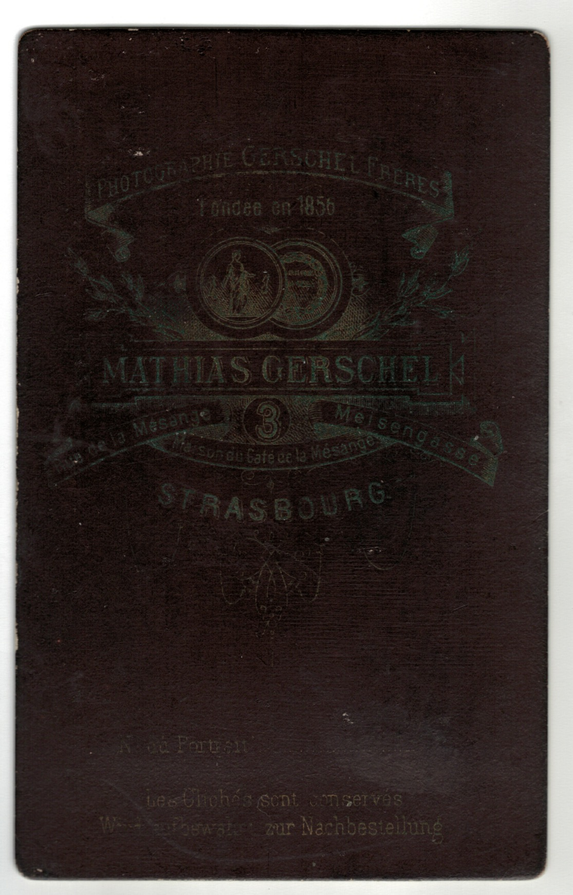 Carte CDV photo - Soldat Allemand Strasbourg - Officier Casque à Pointe.