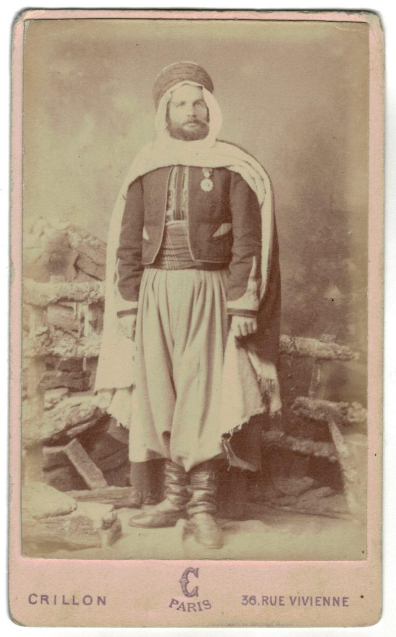 CDV Soldat Français - Armée Spahis - Uniforme - 3éme République - Décoration Nichan Iftikhar