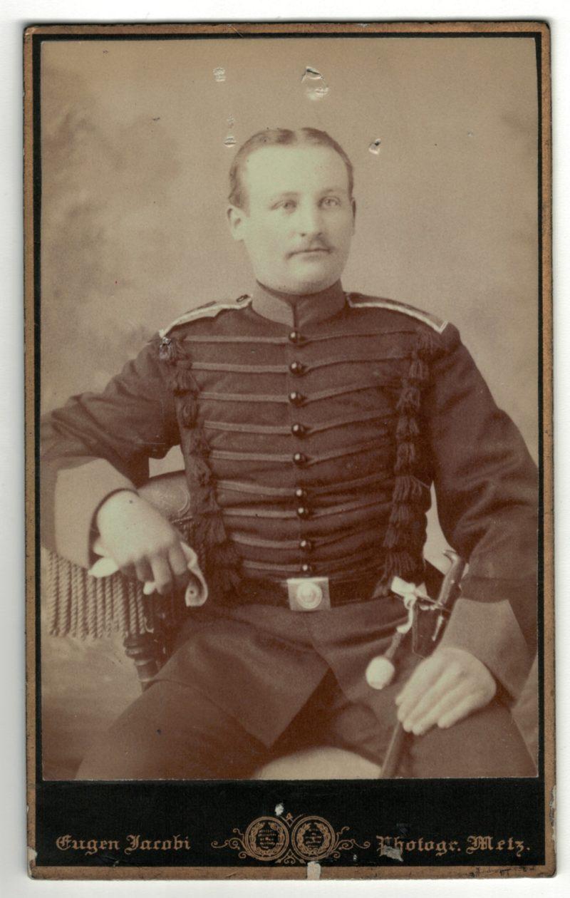 CDV Soldat Allemand / Alsacien - Armée Infanterie Régiment N°92 - Grande tenue - Brunswick - Metz - Photographe Jacobi