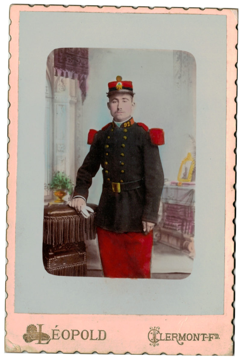 Carte CDV photo - Grand format - Soldat Infanterie République - 92eme Régiment