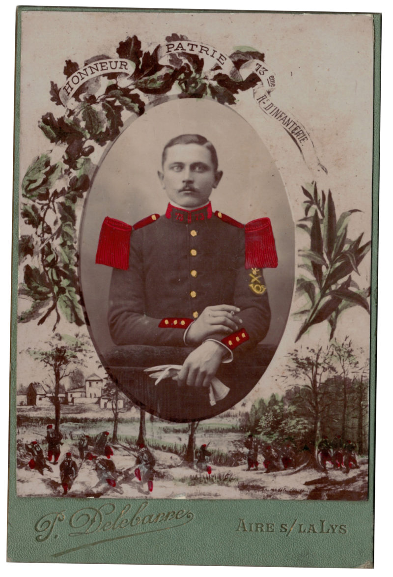 Carte CDV photo - Grand format - Soldat Infanterie République - 73eme Régiment