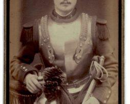 CDV Soldat Français - Armée Cavalerie - Grande tenue - Casque Cuirassier - Cuirassier 3eme République - Sabre 1898