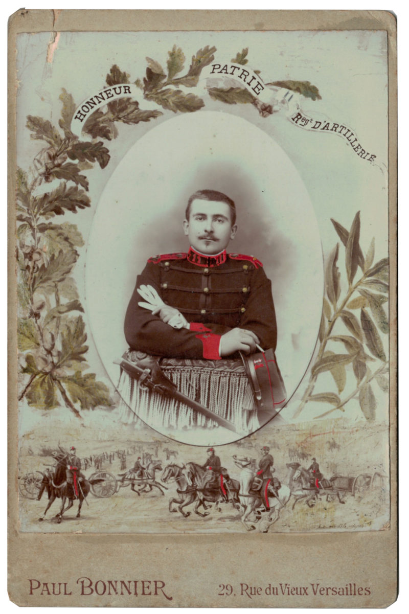 Carte CDV photo - Grand format - Soldat Artillerie 3 République - 11 Régiment - Versailles