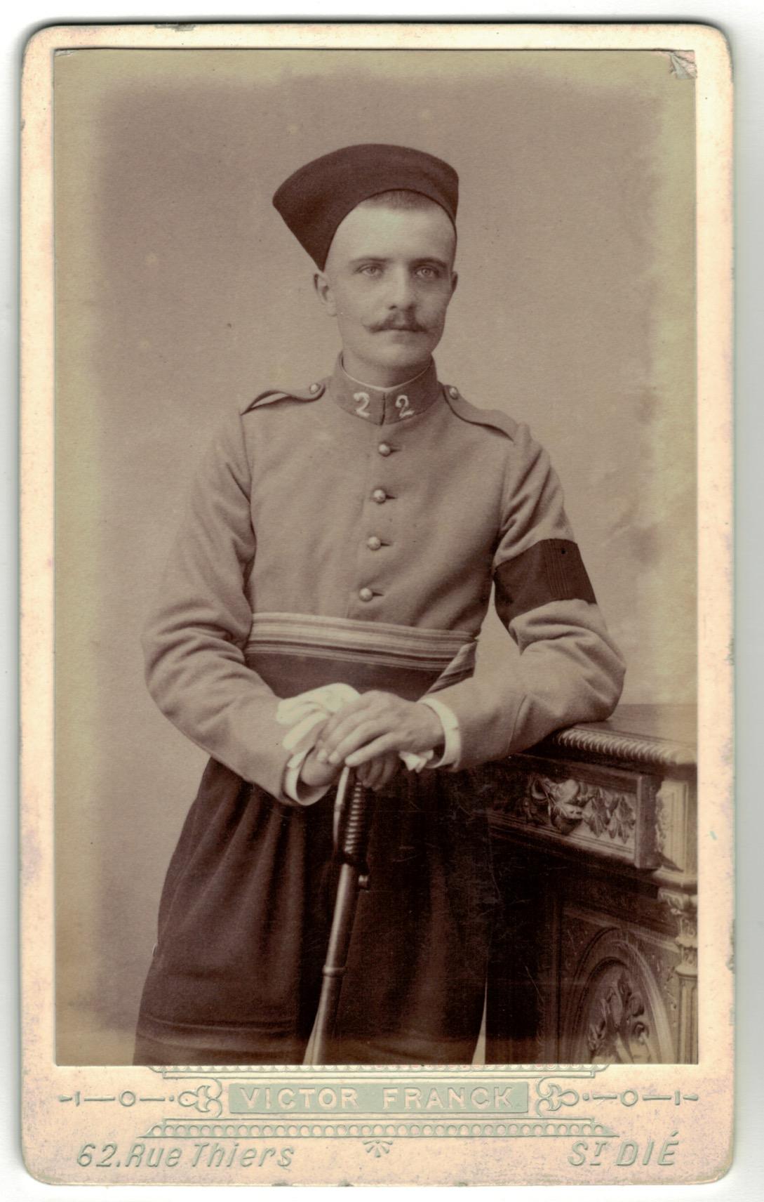 CDV Soldat Français - Armée Chausseur d'Afrique- Uniforme - 3éme République