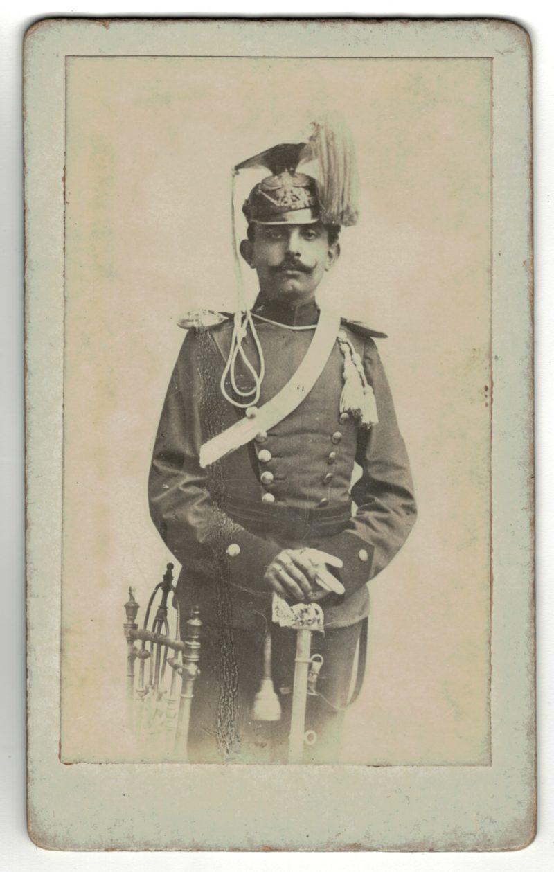 CDV Soldat Allemand / Alsacien - Armée Cavalerie - Grande tenue - Lancier - Uhlan - Sabre - Shapska