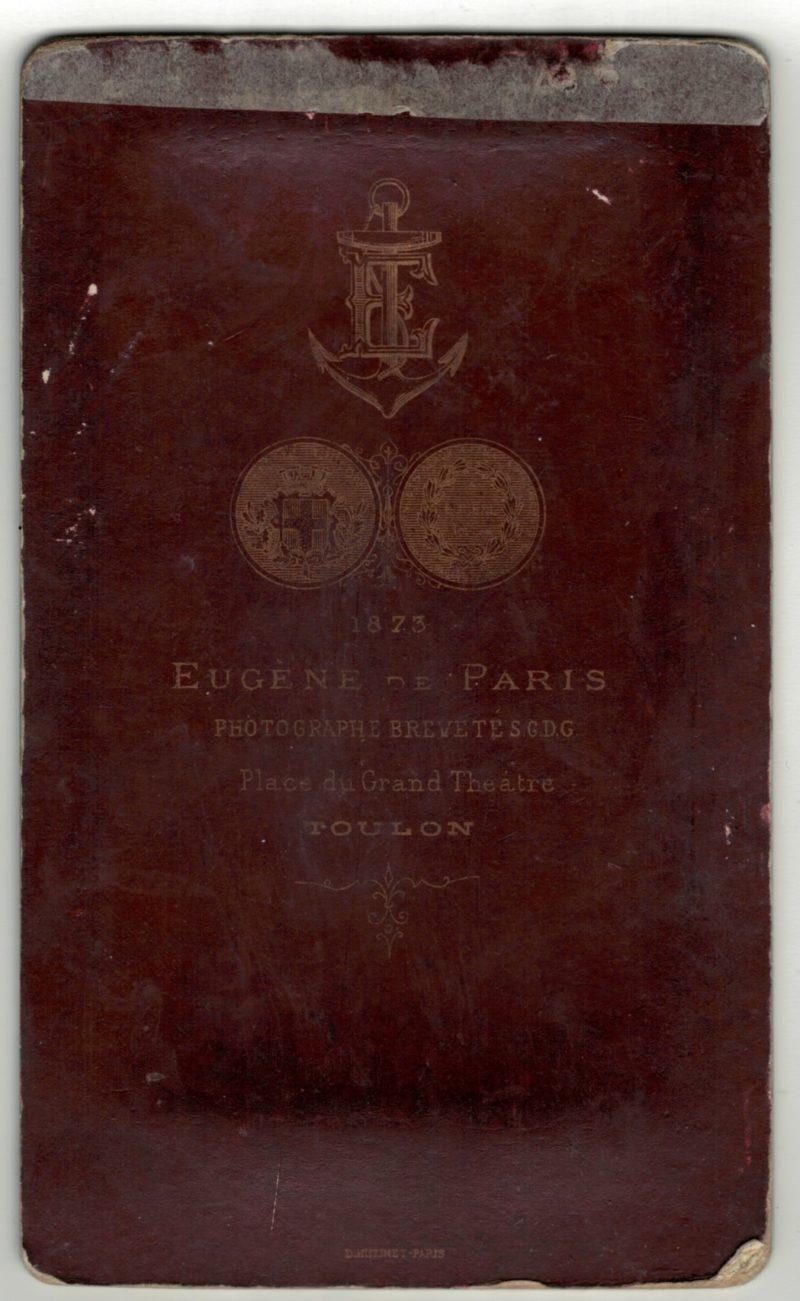 CDV Soldat Français - Armée Infanterie de marine - Uniforme - 3éme République - Toulon