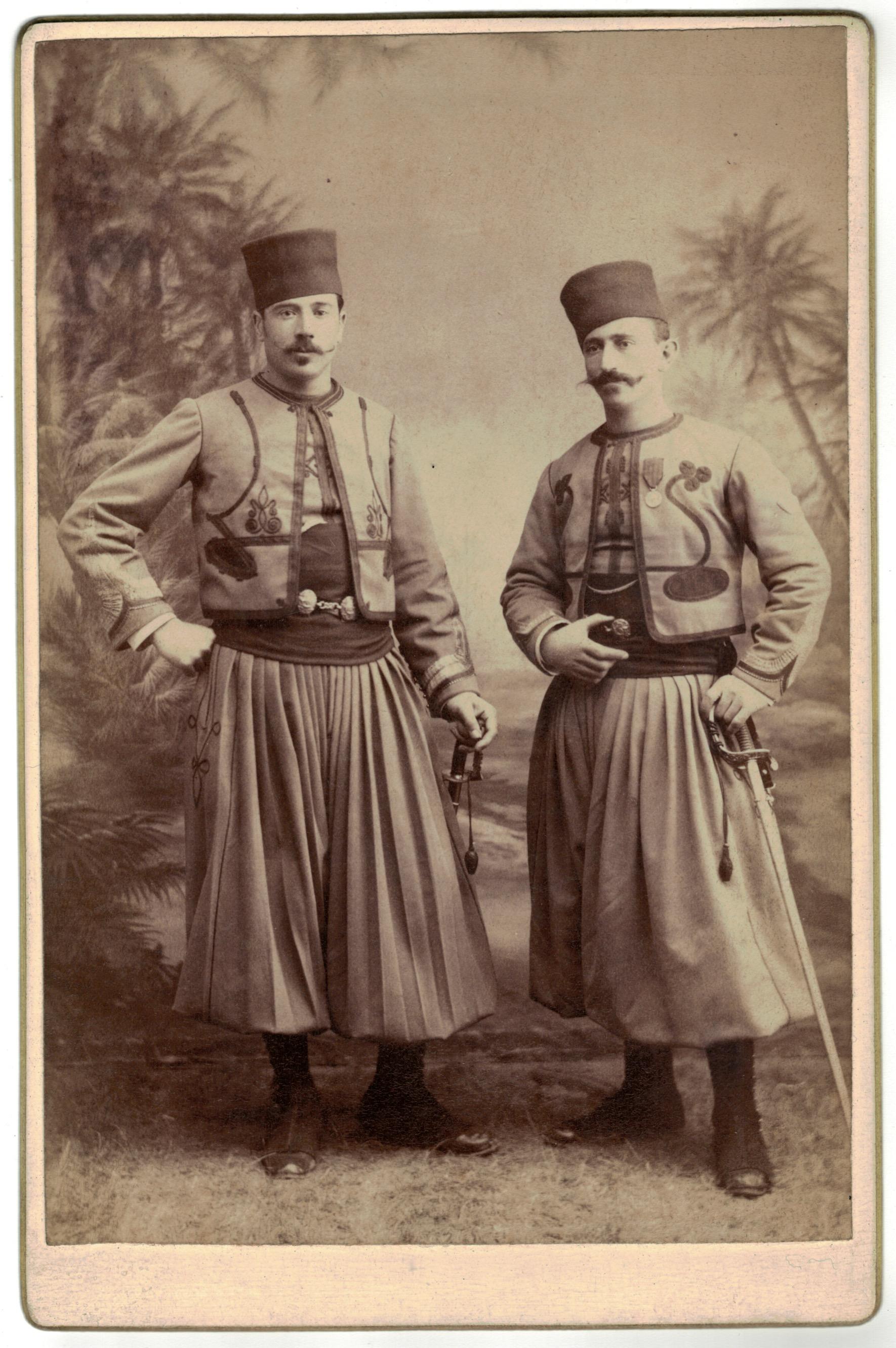 Carte CDV photo - Grand format - Soldat Tirailleurs Algériens 3 République - Turcos