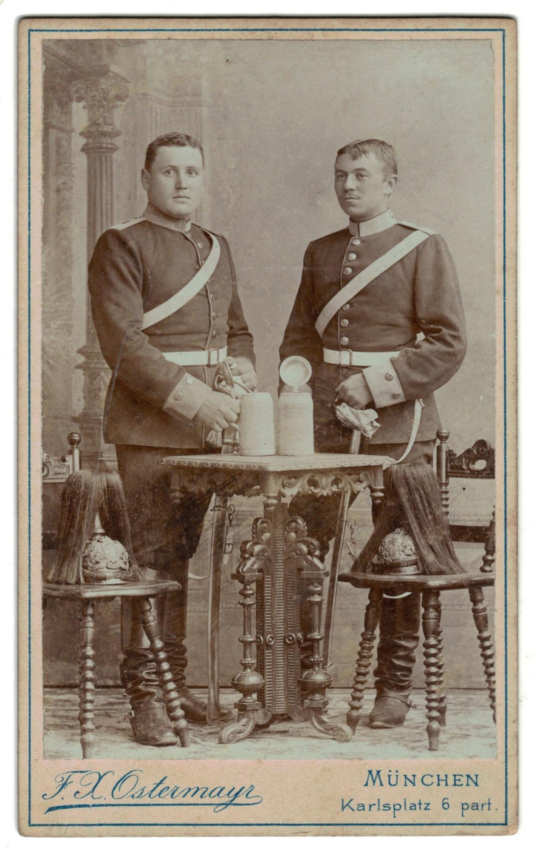 CDV_soldat_prussien_cavalerie_artillerie_XIX