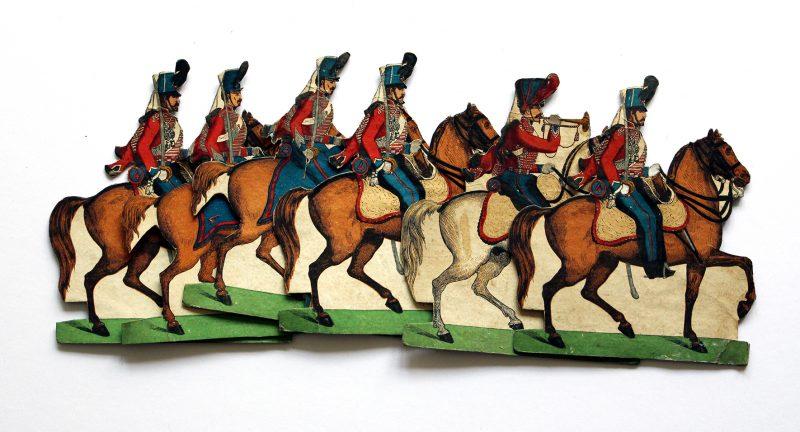 Figurines - Petits Soldats de Strasbourg - Hussards / Lanciers 1845 / Infanterie - Cavalerie - Planche Silbermann