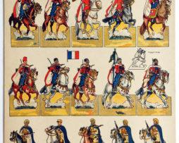 Planche Pro Patria - Editions H.Bousquet - Paris - L'armée Française à Travers les Ages - Spahis - Uniforme