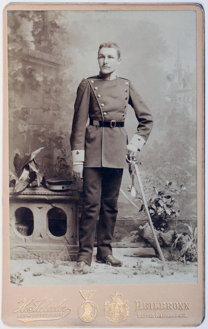 Carte CDV photo - Grand format - Soldat Allemand Heilbronn fin XIX début XX - Uniforme - Cavalerie