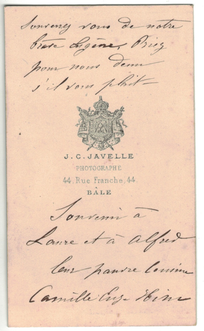 CDV Soldat Français - Cavalerie- Officier - Uniforme - 2nd empire - Prisonnier - Bâle Suisse