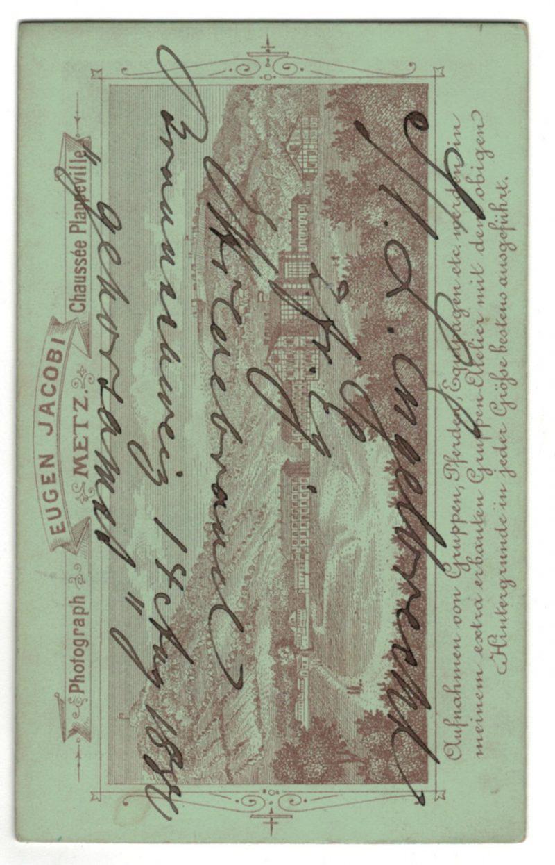 CDV Soldat Allemand / Alsacien - Armée Infanterie Régiment N°92 - Grande tenue - Brunswick - Metz - Photographe Jacobi 1880