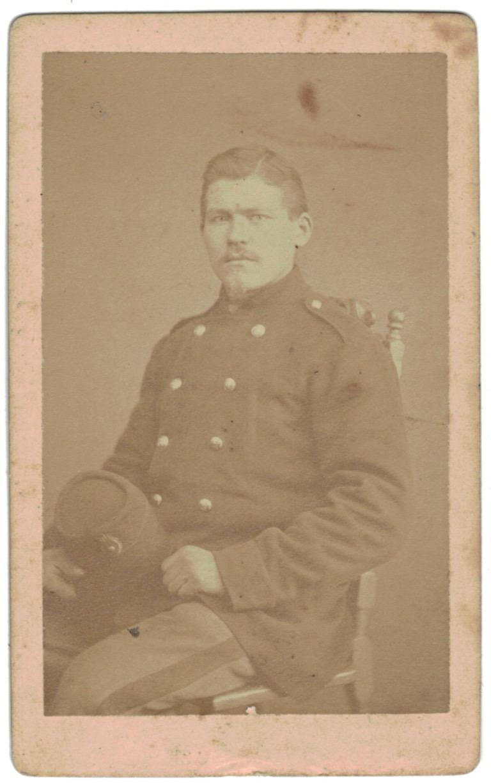 CDV Soldat Français - Infanterie - Garde Mobile - Uniforme - 2nd empire - Sabre - Shako - Prisonnier - Leipzig 1871