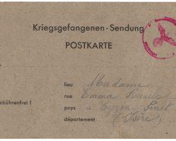 Carte de prisonnier de Guerre - Kriegsgefangenen - Sendung - 1940 - Baule Léon