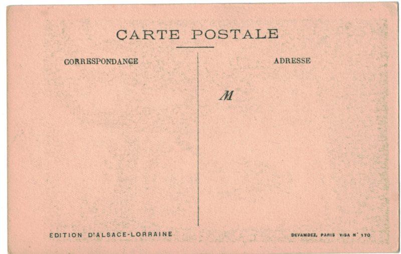 Carte Postale France Lithographie - iconographie 14/18 - Alsace - Noël 1918 - Libération - Poilu - Alsacien