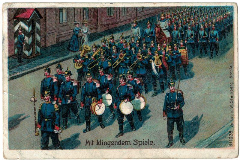 Carte Postale Allemande Lithographie - iconographie 14/18 - Parade Alsace - Alsacien Soldat - 3ème République