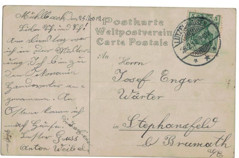 Carte Postale Allemande Lithographie - iconographie 14/18 - Frontières - Alliées - Axe - Parodie - Caricaturale