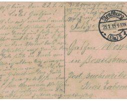 Carte Postale Allemande Lithographie - iconographie 14/18 - Casque a pointe - Prussien - Front Départ - Alsace -