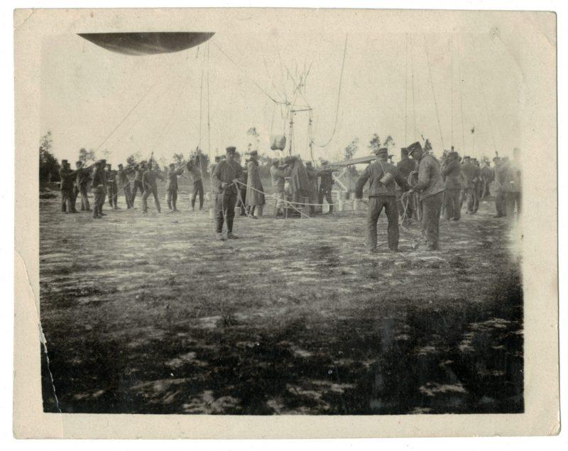 Photo papier originale - Aérostier - Officier - Uniforme - Guerre Mondiale - 14/18 - Ballon - Artillerie - Armée Allemande