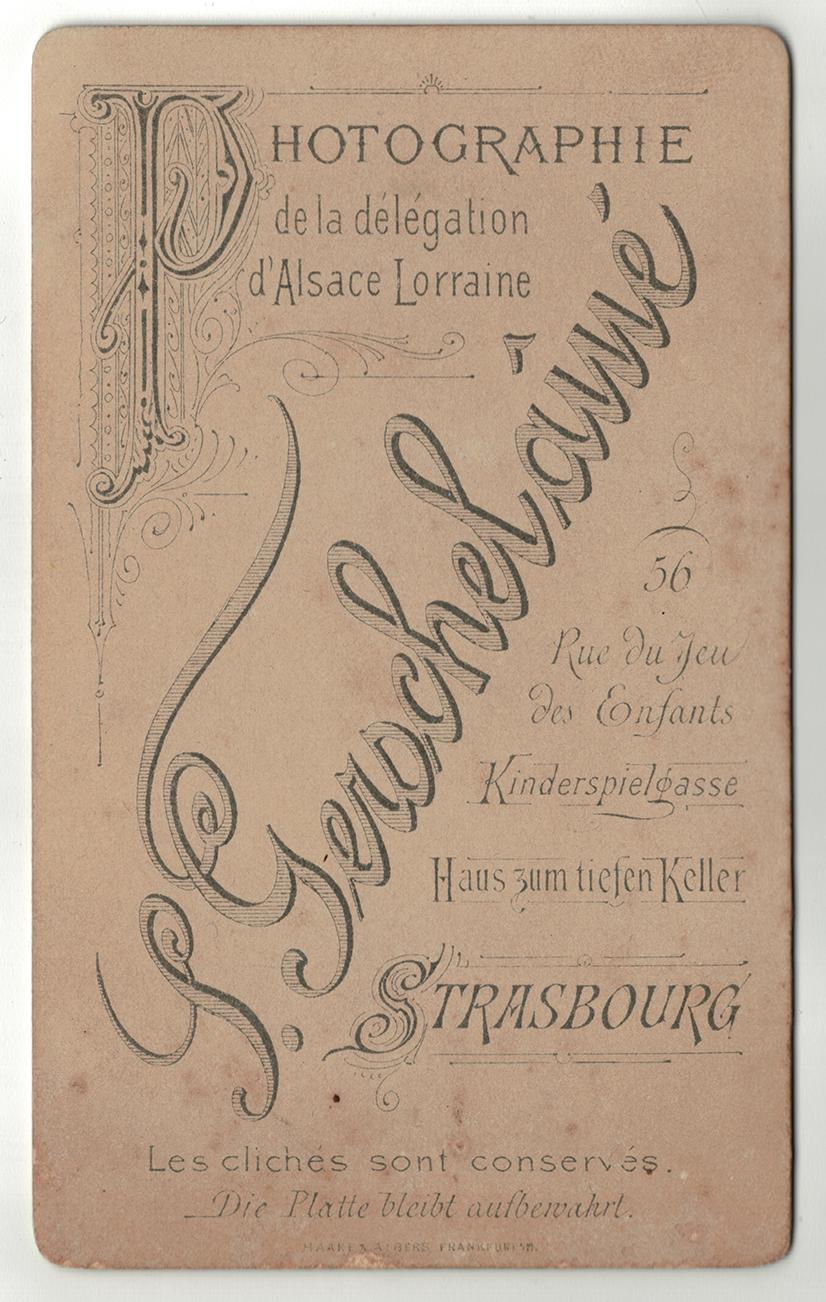 CDV Soldat Allemand / Strasbourg / Infanterie / S.Gerschelainé